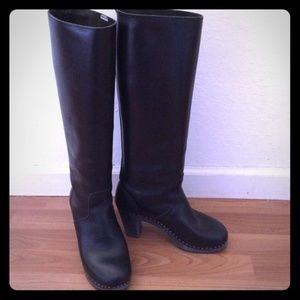 Swedish Hasbeens Black Knee High Boots Size 38 (8)